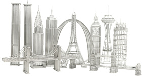 Architectural Wire Models, Doodles and Design Ideas