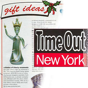 New York City Christmas Ornaments featured in Time Out New York Magazine